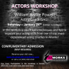 Actors Workshop at Kissworks Studios (FREE ADMISSION)
